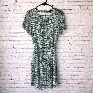 Banana Republic Mint Pleated Tie-Waist Dress**
